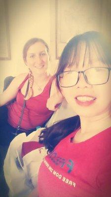 Avec Giang à la gare