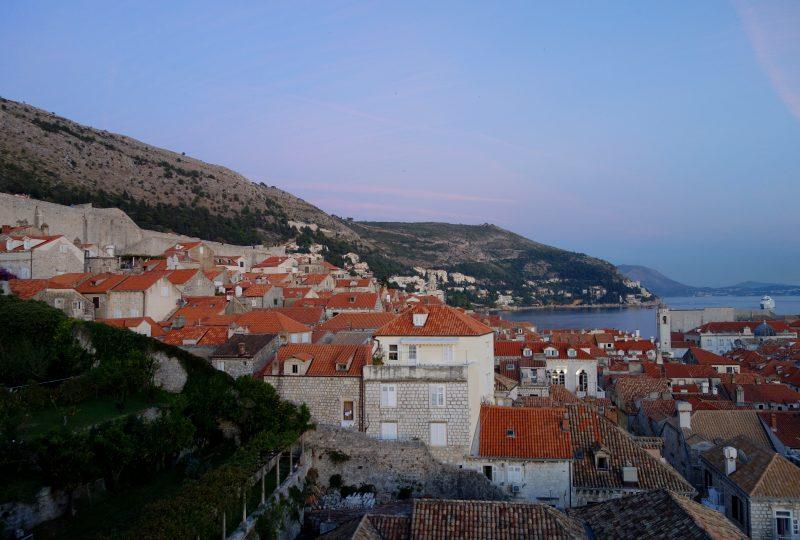 remparts dubrovnik croatie coucher du soleil