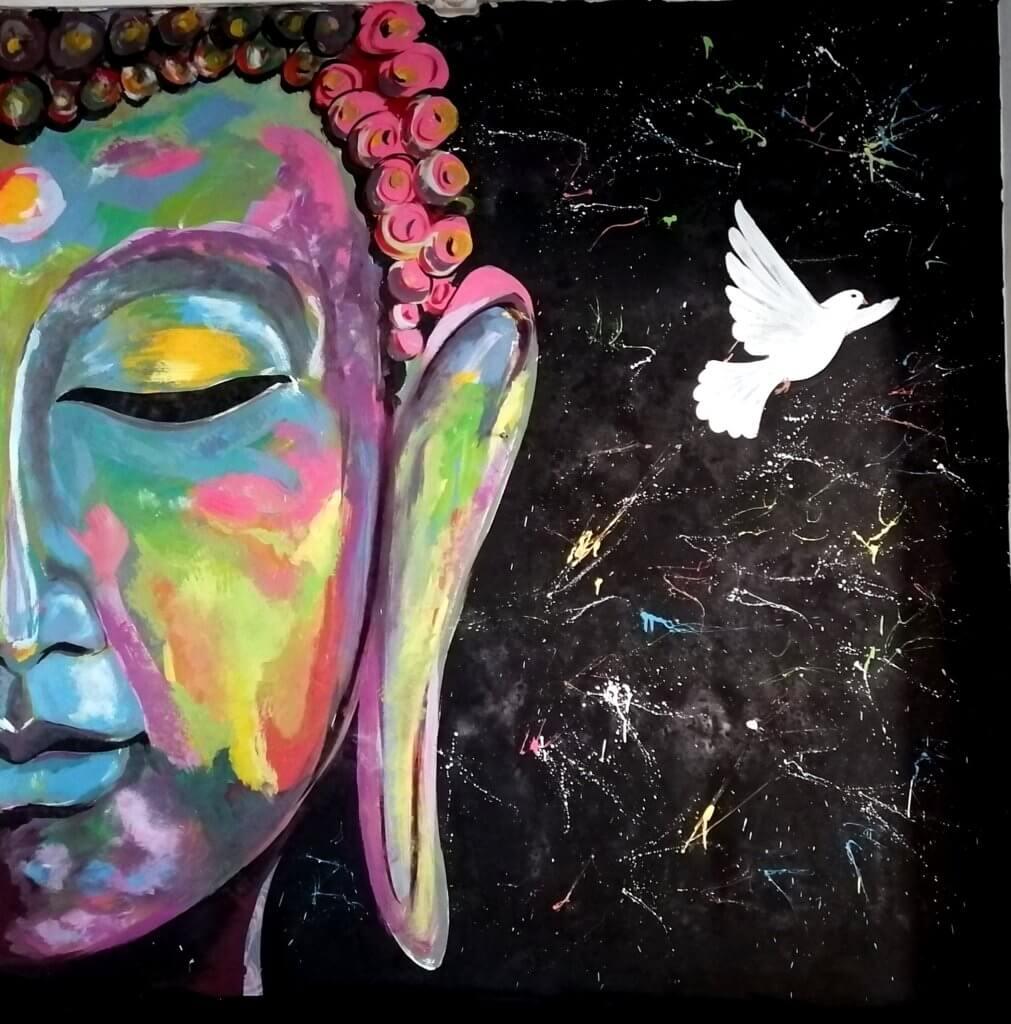 street art vaca india inde blog mere fille voyage varanasi