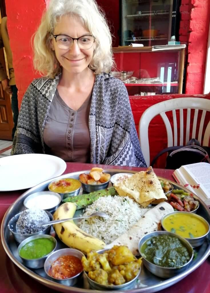 super thali chez ashish varanasi blog inde mere fille voyage